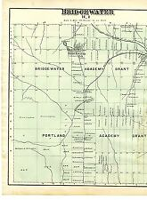 1877 Map of Bridgewater. R.1, in Aroostook County, Maine w/family names - rare