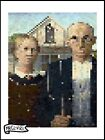 MR CLEVER ART POP PIXELS AMERICAN GOTHIC PRINT squares contemporary gothic urban