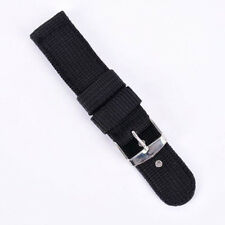 💜 👌 24 mm Bracelet Montre Tissu noir / 👍 24 mm Band Watch Fabric Black
