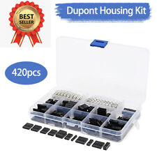 420X 2.54mm 3A Housing Connector Pin Header Male Female Crimp Pin Kit For Dupont
