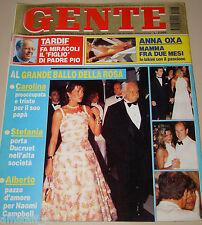GENTE=1995/33=CAROLINE DE MONACO=ANNA OXA=WILLIAM CARLING=DIEGO DELLA PALMA=