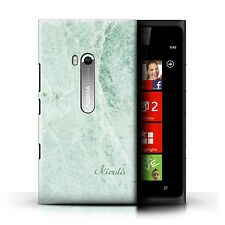 Personalized Marble Case for Nokia Lumia 900/Text/Name/Initial Custom DIY Cover