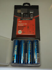 Folomov A1 fast 1A  Li-Ion Battery Charger + 4x Vapcell 3400mAh 18650 for Pard