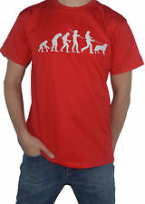 NEW Golden Retriever Evolution T-Shirt - Funny Evolution of Man  Dog Walking Top