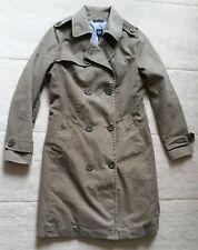 Gap Khaki Jacket/Trench Coat, Green/Grey, M, Medium, Blue Floral Lining, Ex Cond
