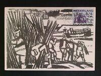 NIEDERLANDE MK 1959 DELTAWERK HOLZARBEITER MAXIMUMKARTE MAXIMUM CARD MC CM c8139