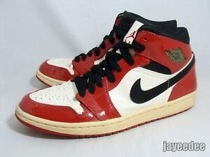 NIKE AIR JORDAN 1 RETRO PATENT LEATHER 2003 136085-106 CHICAGO WHITE/BLACK-RED 9