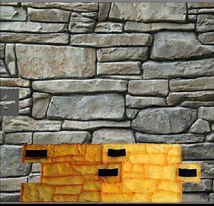 Set 2 Stamping Stone Decorative Concrete Cement Imprint Texture Stamp Granitte