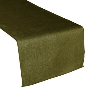 Faux Burlap Table Runner Non-Itch Vintage Linen Perfect for Events, Farm House