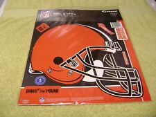 NFL Cleveland Browns Helmet Fathead 12'' X 10'' Wall Graphic 5 Decals Logo