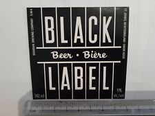 beer label BLACK LABEL - Bavarian Brewing - ST. JOHN´S - CANADA