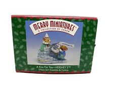 """1999 Hallmark Merry Miniatures  """"A Kiss For You--Hershey's"""" 25 Year Anniversary"""