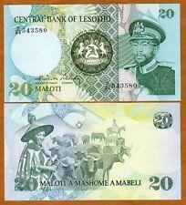 New listing Lesotho, Kingdom, 20 Maloti, Nd (1984), Moshoeshoe Ii P-7b, Unc