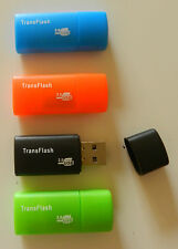 Wholesale lot - 500 x Colorful USB Micro SD SDHC Card Reader Flash Drive TF
