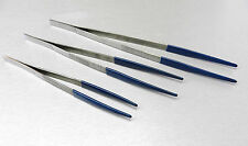 "Tweezers Steam & Ultrasonic Cleaning Plastic Coated Tips Set of 3 pcs 8"" 10"" 12"""