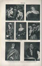 Lithografien 1907: TIZIAN. Gemälde: Vanitas Lavinia Philipp II Himmelfahrt Mariä