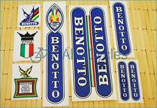Rare BENOTTO Restoration Decals Kit  White ST Set Campagnolo Vintage + 17 GIFT