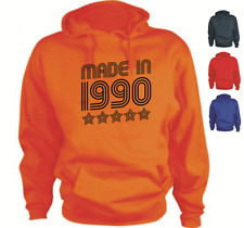 MADE IN 1990 Your Date Custom Birthday Hoodie
