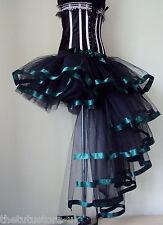 Burlesque Tutu Skirt Sexy Poison Ivy Green Black SteamPunk Halloween