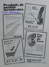 PUBLICITE CAM POUR VOTRE VOITURE ROUE AMOVIBLE AMORTISSEUR RAF DE 1926 FRENCH AD