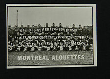 1961 O PEE CHEE OPC FOOTBALL #73 MONTREAL ALOUETTES TEAM CARD