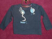 Shirt Sweatshirt Pulli Pullover Jungenpullover Gr. 74/80 Dunkelblau Blau