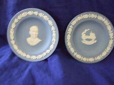 2 Vintage Blue Wedgewood Jasperware Dishes