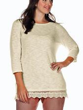 Feiner Pullover beige Gr. 48/50 v. Sheego 518982 Neu