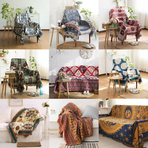 Retro Ethnic Sofa Cover Couch Blanket Throw Rugs Boho Home Decor Wall Hanging
