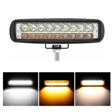 """6"""" inch LED Work Light Bar Flood Spot Driving Fog Lamp Dual Color White & Amber"""