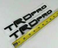 TOYOTA TRD PRO EMBLEMS TACOMA 4RUNNER MATTE BLACK BADGE sign symbol logo letters