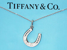 Tiffany & Co Sterling Silver Horseshoe Charm Pendant Necklace
