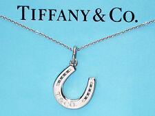 Tiffany & Co Plata De Ley Herradura Charm Colgante Collar