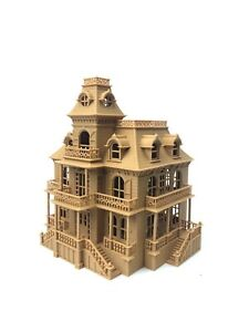 Gold Rush Bay HO Scale BROWN Miniature Victorian Mansion Train Haunted House