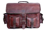 Bag Men Denver Leather Vintage Brown Messenger Laptop New Shoulder S Briefcase