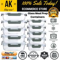 10 Pack Glass Meal Prep Containers With Lock Lids Microwave Oven & Freezer Safe