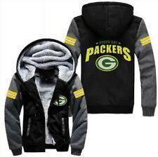 Green Bay Packers Football fan's Thicken Hoodie winter Hooded Coat Warm Jacket&