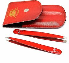 Red Tweezer Eye Brows Hair Removal Beauty Slant Stainless Steel Classic Tweezers