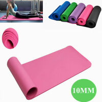 Extra Thick 10mm Exercise Mat Yoga Gym Workout Fitness Gymnastics Mat Pad Pink