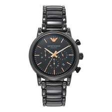 Armani relojes AR1509 Rosa Oro y Negro Cerámica Cronógrafo Reloj de hombre