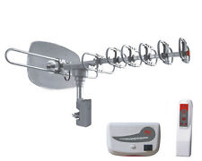 Home Outdoor Rotating DTV Antenna 1080P HDTV 150 Mile UHF/VHF/FM for 2TV sets