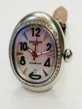 LOCMAN NUOVO Diamante para Mujer Reloj de señoras de cuero cocodrilo Modelo 028 Italia