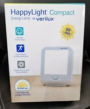 Verilux HappyLight Winter Energy Lamp Light Therapy Compact 10,000 LUX OPEN BOX
