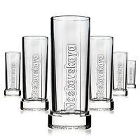 6 x Moskovskaya Glas Gläser Relief Longdrink Edel Vodka Gastro Bar NEU