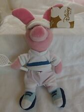 DISNEY Retired PLUSH TOY, SYDNEY 2000 OLYMPICS, PIGLET TENNIS PLAYER with Tag