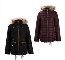 BNWT Ladies Lee Cooper black slim padded Reversible Coat Size 12