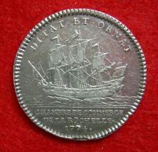 Jeton, MédailleLOUIS XVI Chambre de Commerce de LA ROCHELLE- 1774 -SILVER MEDAL