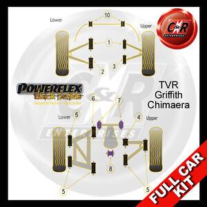 Fits TVR Griffith - Chimaera All Models Powerflex Black Complete Bush Kit