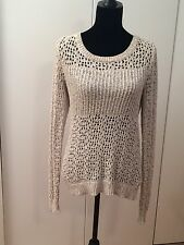 Urban Outfitters Staring at Stars Women's Sweater Beige Long Sleeve Size Medium