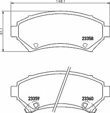 VAUXHALL SINTRA ALL MODELS 1996-1999 REAR 2 BRAKE DISCS AND PADS SET NEW